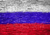 Russia flag painted on wall — Stock Photo