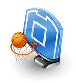 Basketball Hoop and Ball. — Stock Vector