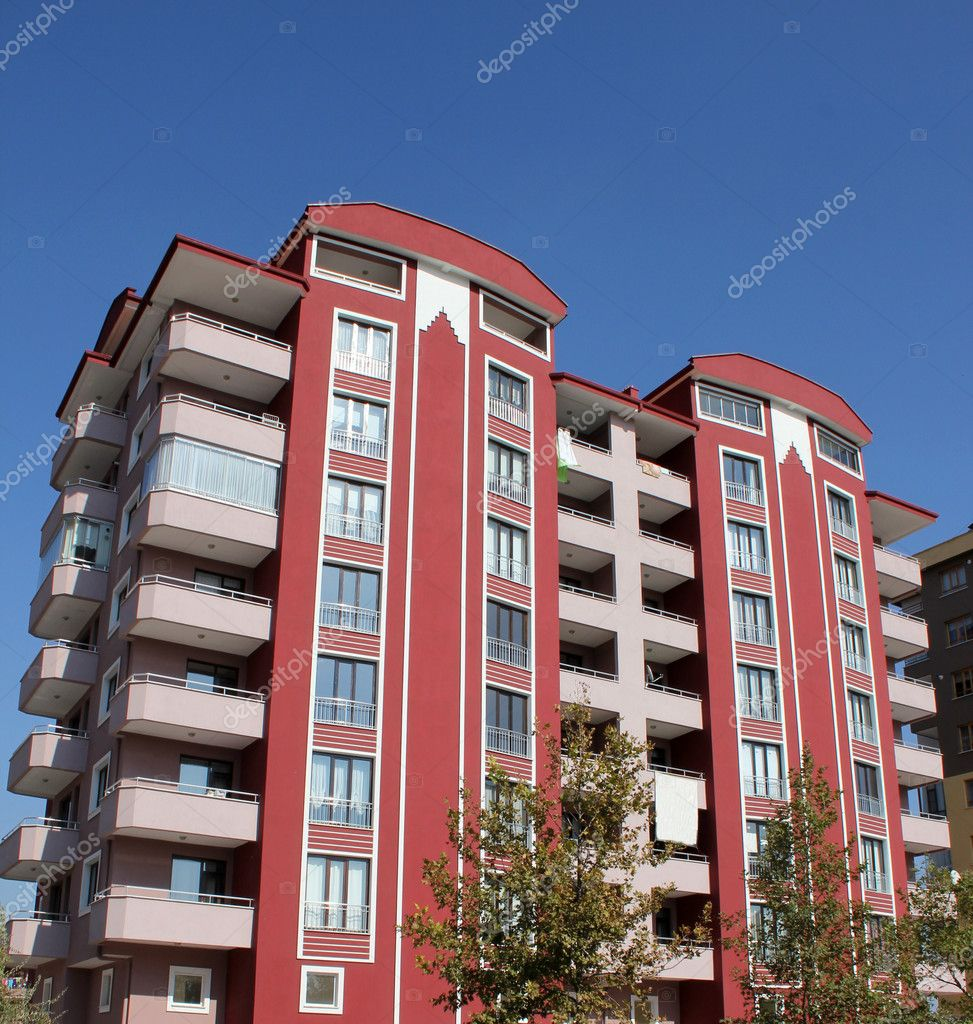Apartment block over blue sky — Stock Photo #6825925
