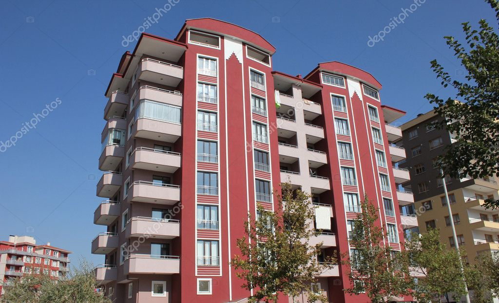Apartment block over blue sky — Stock Photo #6825943