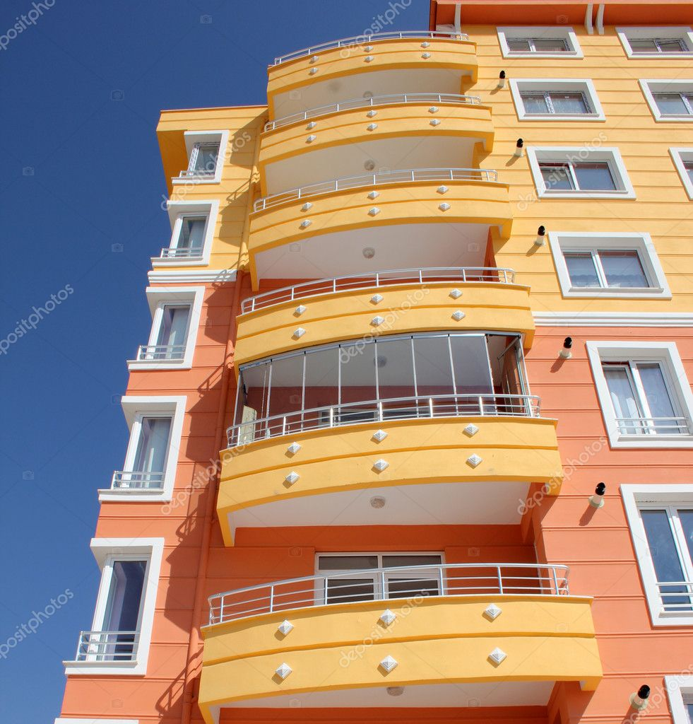 Apartment block over blue sky — Stock Photo #6856499