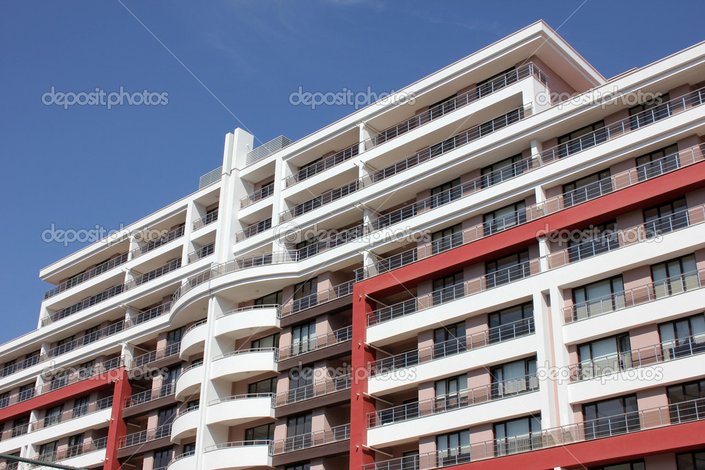 Apartment block over blue sky — Stock Photo #6856746