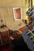 Rug Anatolian motifs — Stock Photo