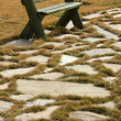 Stock Photo: Park and bench