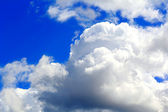Beautiful picture with blue cloudiness sky — Stock Photo