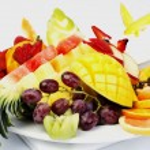 Platter of a assorted fresh fruit — Stock Photo