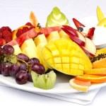 Platter of a assorted fresh fruit — Stock Photo #7478827