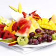 Platter of a assorted fresh fruit — Stock Photo