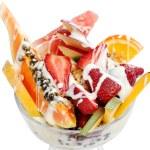 Fresh fruit yogurt — Stock Photo #7478885