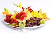 Plato de fruta fresca surtido — Foto de Stock