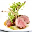 Classic lamb chops plate - Stock Photo