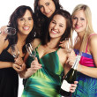 Group image of young women at a party — Stock Photo