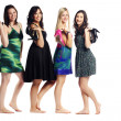 Attractive group of pretty young models posing — Stock Photo