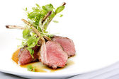 Classic lamb chops plate — Stock Photo