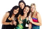 Young beautiful girls celebrate birthday - Isolated — Stock Photo