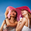 Bright look of girlfriends — Stock Photo #7910341