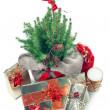 Stock Photo: Christmas presents under christmas tree