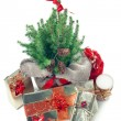Stock Photo: Christmas presents under the christmas tree