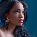 Beautiful black girl — Stock Photo