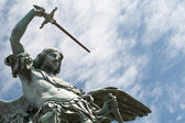 Saint Michael statue on the top of Castel Sant`Angelo — Stock Photo