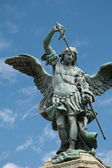 Saint Michael statue on the top of Castel Sant Angelo in Rome — Stock Photo
