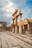 View of the Pompei ruins in Italy — Stock Photo