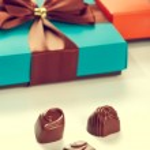 Gift boxes of chocolates — Stock Photo