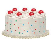 Gâteau aux cerises — Vecteur