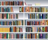 Modern bookshelf — Stock Vector