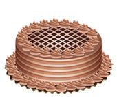 Ciasto czekoladowe — Wektor stockowy