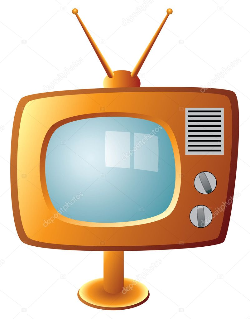 Vector retro tv set — Stock Vector #6870521