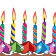Royalty-Free Stock Vector Image: Birthday candles on cake