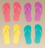 Colorful flip flops — Vecteur