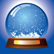 Royalty-Free Stock Vector Image: Snow globe