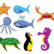 Sea animals - Image vectorielle