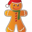Royalty-Free Stock Vector Image: Gingerbread cookie