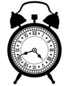 Retro alarm clock — Stock Vector