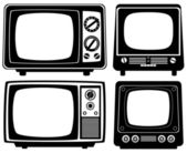 Retro tv set — Stock Vector