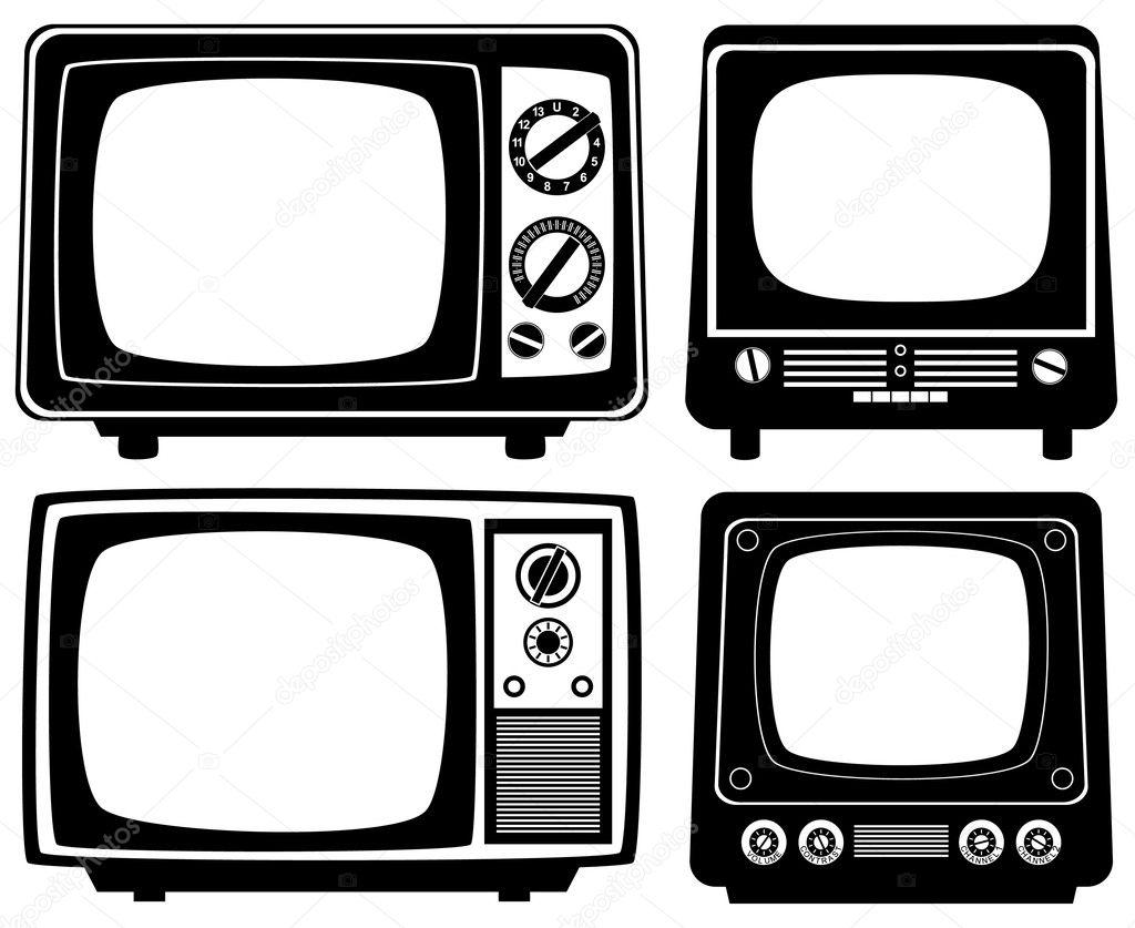 矢量复古电视机— 矢量图片作者