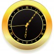 Golden clock — Stock Vector