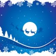 Holiday blue background with santa — Stock Vector