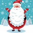 Santa with big beard — Stockvectorbeeld