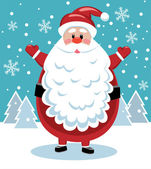 Santa with big beard — Stock Vector
