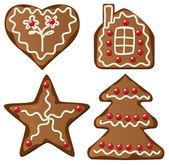 Gingerbread cookies — Stock Vector