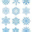 12 snowflakes — Stock Vector #7363300