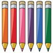 Stock Vector: Colorful pencils clipart