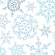 Winter background with snowflakes — стоковый вектор #7363431