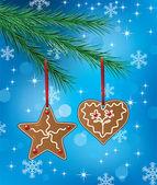 Gingerbread cookies — Stockvektor