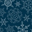 Stok Vektör: Winter background with snowflakes