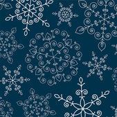 Winter achtergrond met sneeuwvlokken — Stockvector